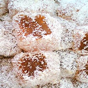 Λουκούμι Ινδοκάρυδο