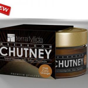 Chutney Μανιτάρι Πλευρώτους με Τσίλι, Κάρυ και Πορτοκάλι 160g